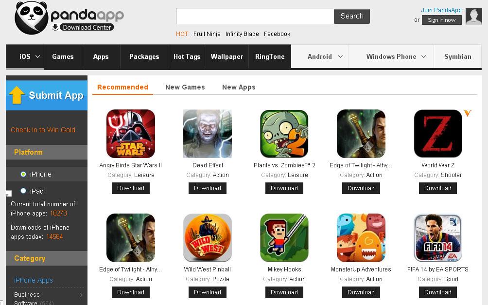 Pandaapp for iOS