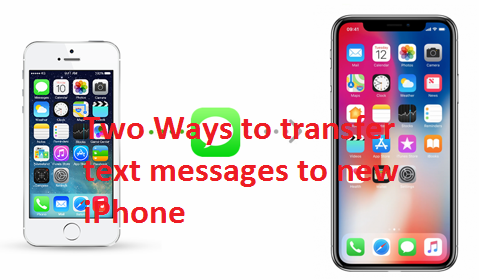 text messages to new iphone