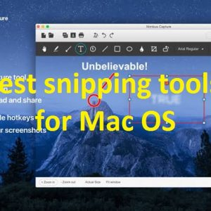 Snipping tools for Mac OS 2019