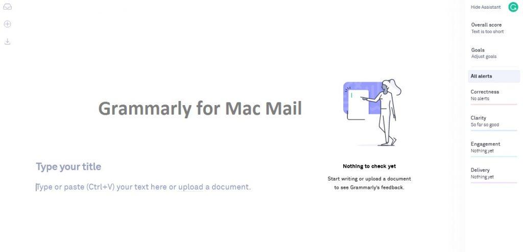 Grammarly for Mac Mail usage