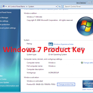 windows 7 product key free