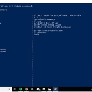 Windows PowerShell system