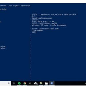 Windows PowerShell system